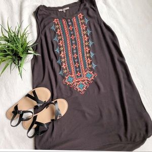 Miss Me Embroidered High-Low Tunic Dress